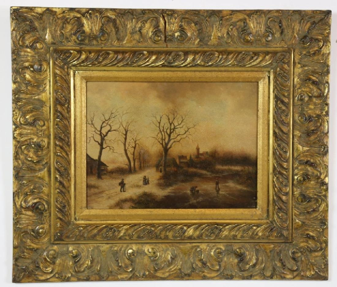 FINE DECORATIVE LANDSCAPE ON CANVAS