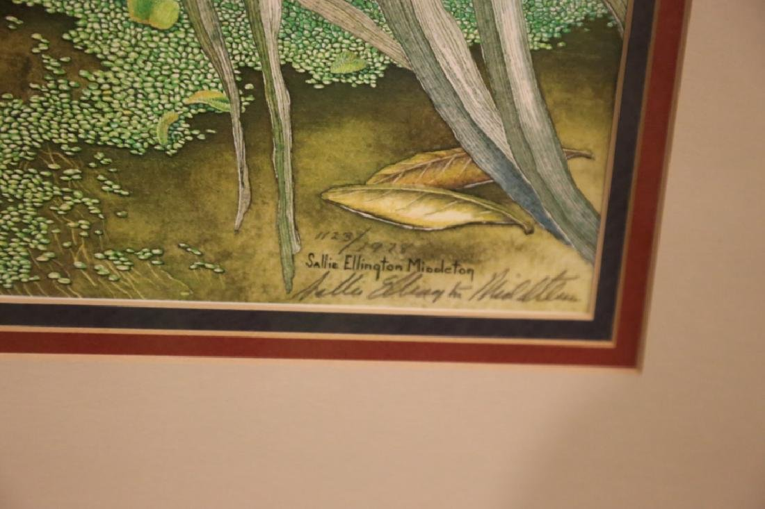 SALLIE ELLINGTON MIDDLETON, SIGNED, AUDUBON - 5