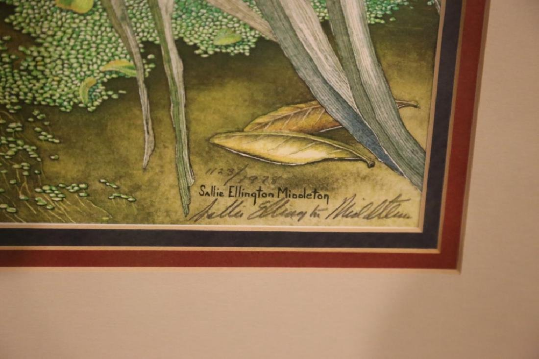SALLIE ELLINGTON MIDDLETON, SIGNED, AUDUBON - 6