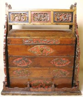 CHINESE ANTIQUE WEDDING DOWERY CHEST