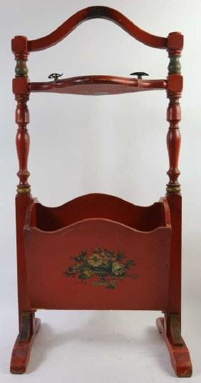 AMERICAN STENCIL DECORATED SMOKING STAND