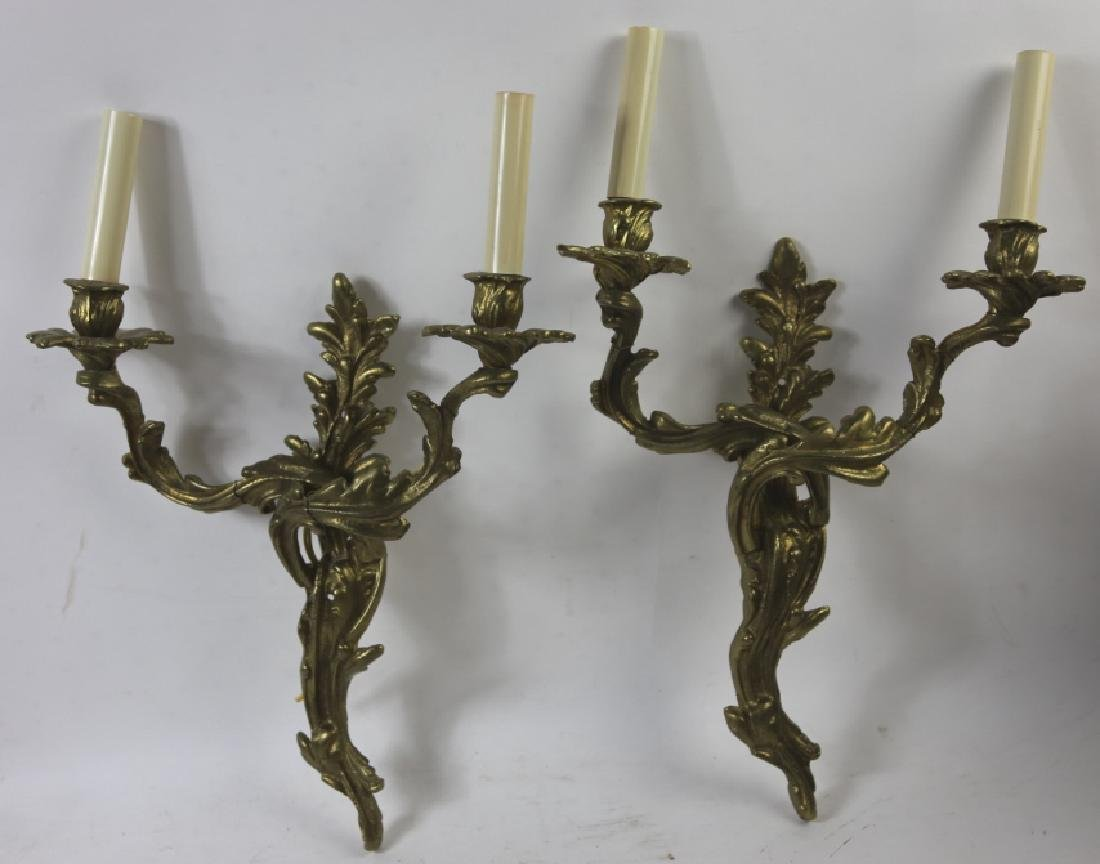 BRONZE VINTAGE SHADED WALL SCONCES - 5
