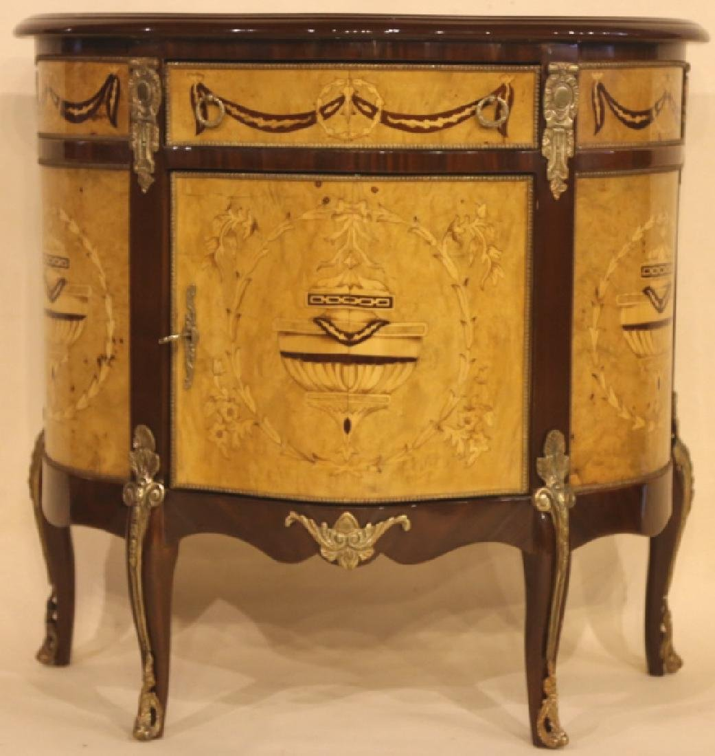 FINE INLAID DECORATIVE COMMODE - 2