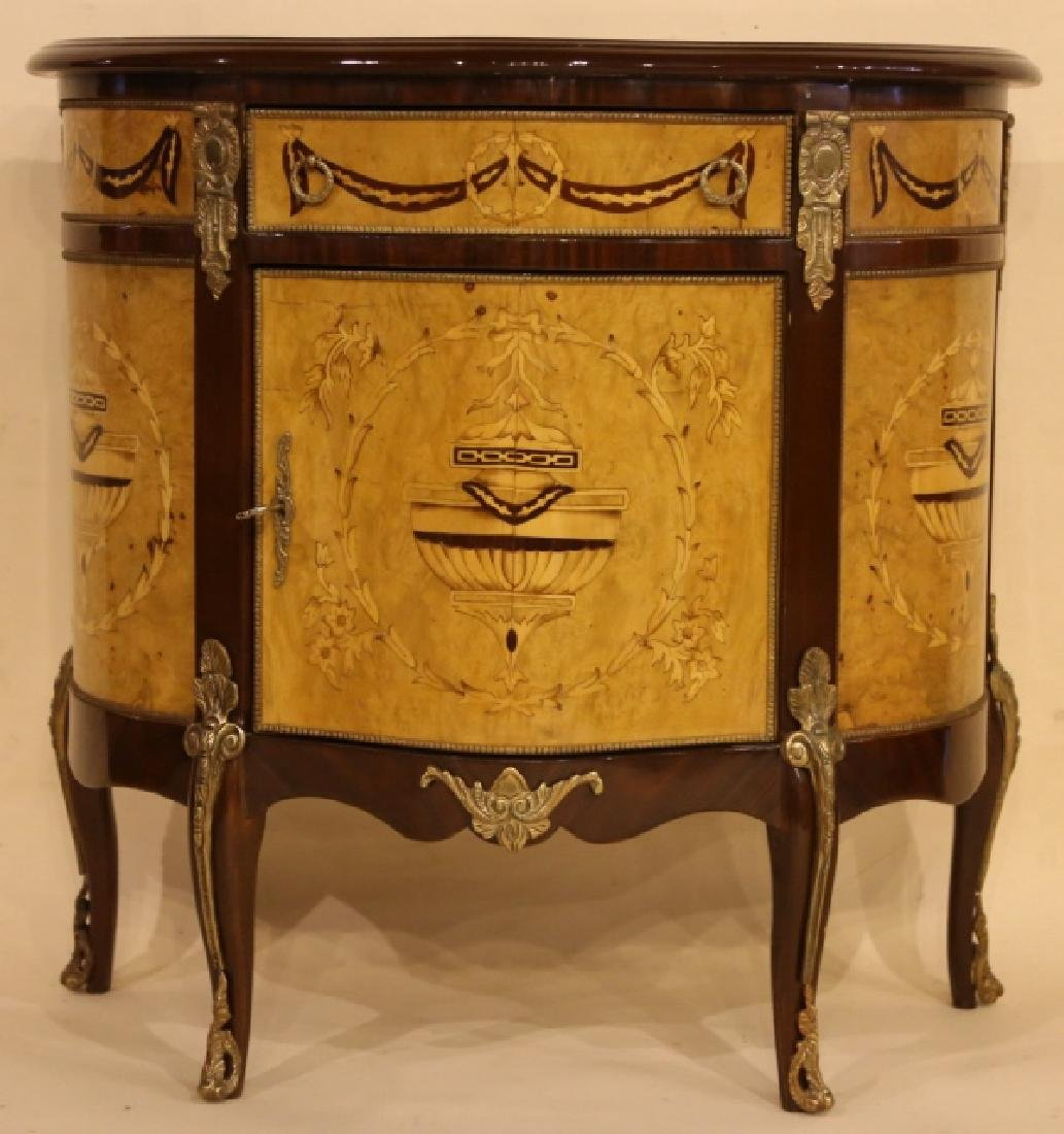 FINE INLAID DECORATIVE COMMODE - 4
