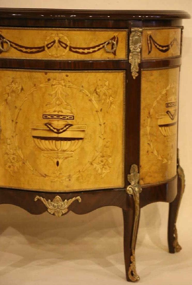 FINE INLAID DECORATIVE COMMODE - 6