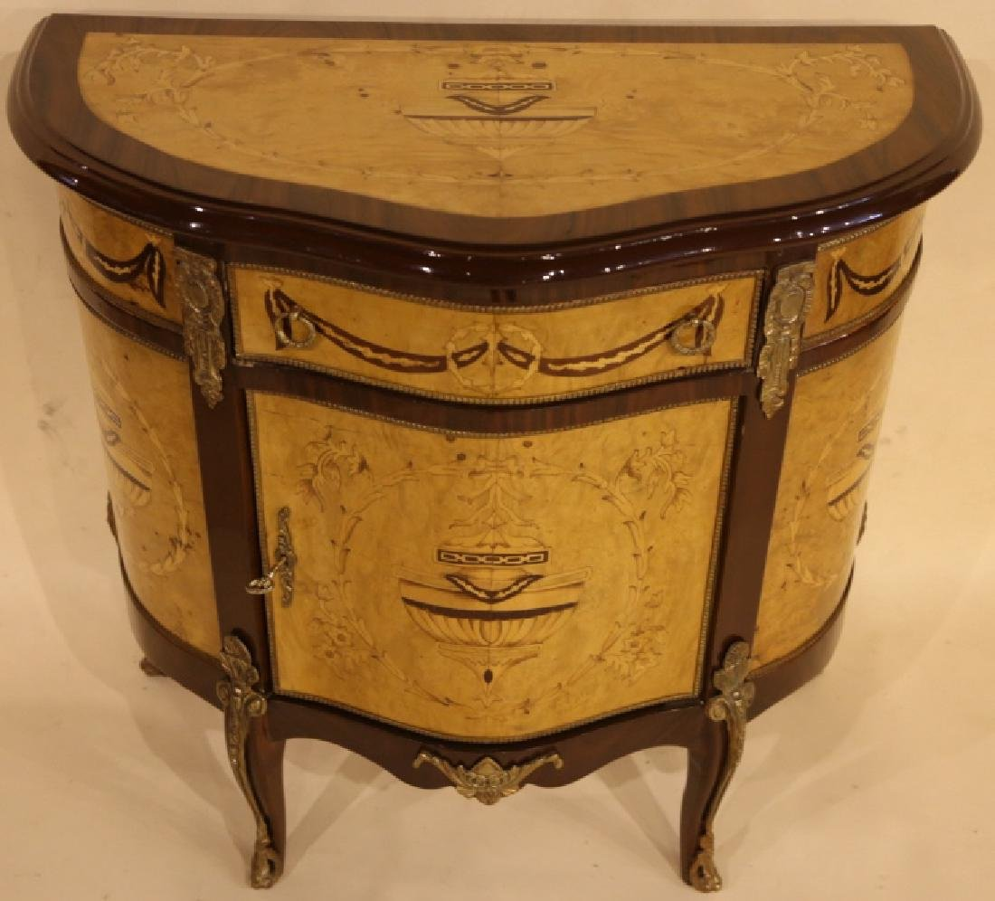 FINE INLAID DECORATIVE COMMODE - 8