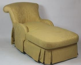 FINE CUSTOM UPHOLSTERED DOWN CHAISE LOUNGE