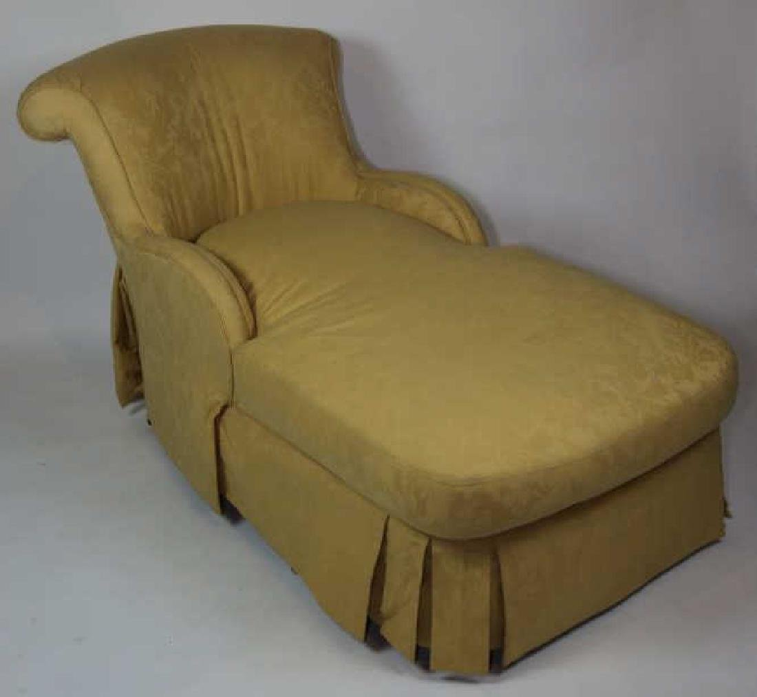 FINE CUSTOM UPHOLSTERED DOWN CHAISE LOUNGE - 3