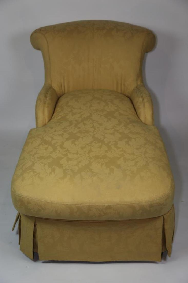 FINE CUSTOM UPHOLSTERED DOWN CHAISE LOUNGE - 4