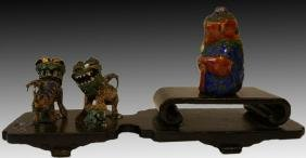 CHINESE ANTIQUE ANIMAL FIGURES