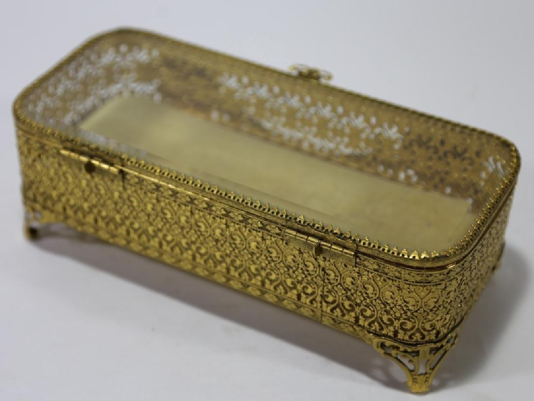 ITALIAN GOLD GILT METALWORK DRESSER BOX - 10