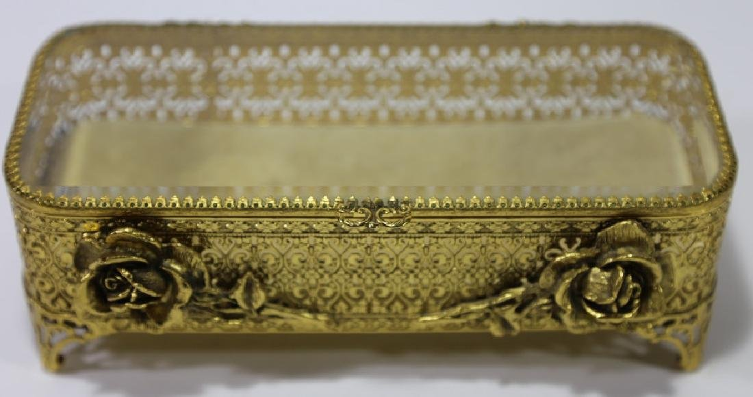 ITALIAN GOLD GILT METALWORK DRESSER BOX