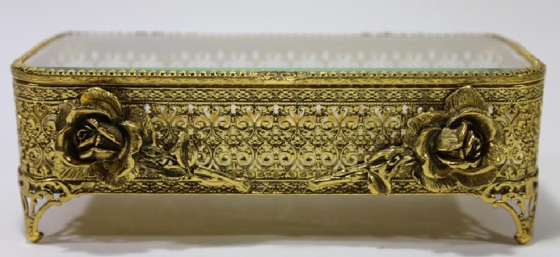 ITALIAN GOLD GILT METALWORK DRESSER BOX - 2