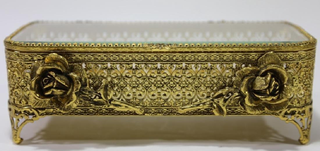 ITALIAN GOLD GILT METALWORK DRESSER BOX - 3