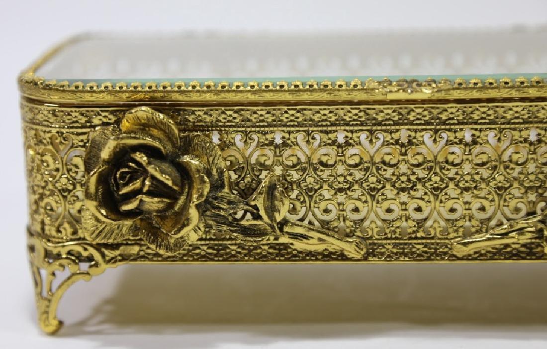 ITALIAN GOLD GILT METALWORK DRESSER BOX - 4