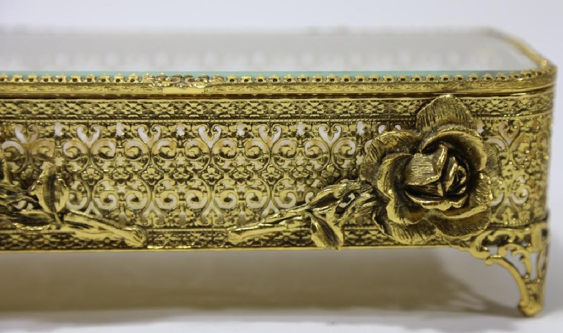 ITALIAN GOLD GILT METALWORK DRESSER BOX - 5