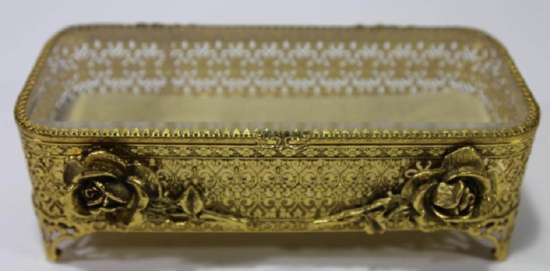 ITALIAN GOLD GILT METALWORK DRESSER BOX - 6