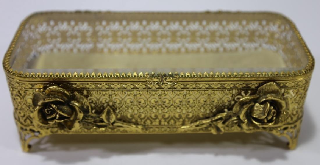 ITALIAN GOLD GILT METALWORK DRESSER BOX - 7