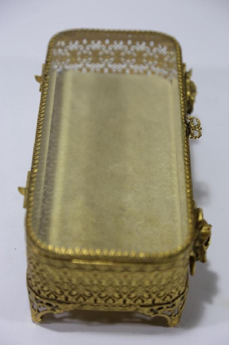 ITALIAN GOLD GILT METALWORK DRESSER BOX - 9