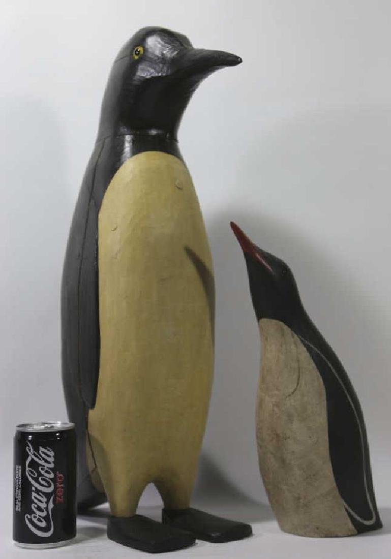 HAND CARVED & PAINTED PENGUINS - 2