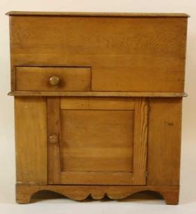 SOUTHERN ANTIQUE PRIMITIVE YELLOW PINE CABINET