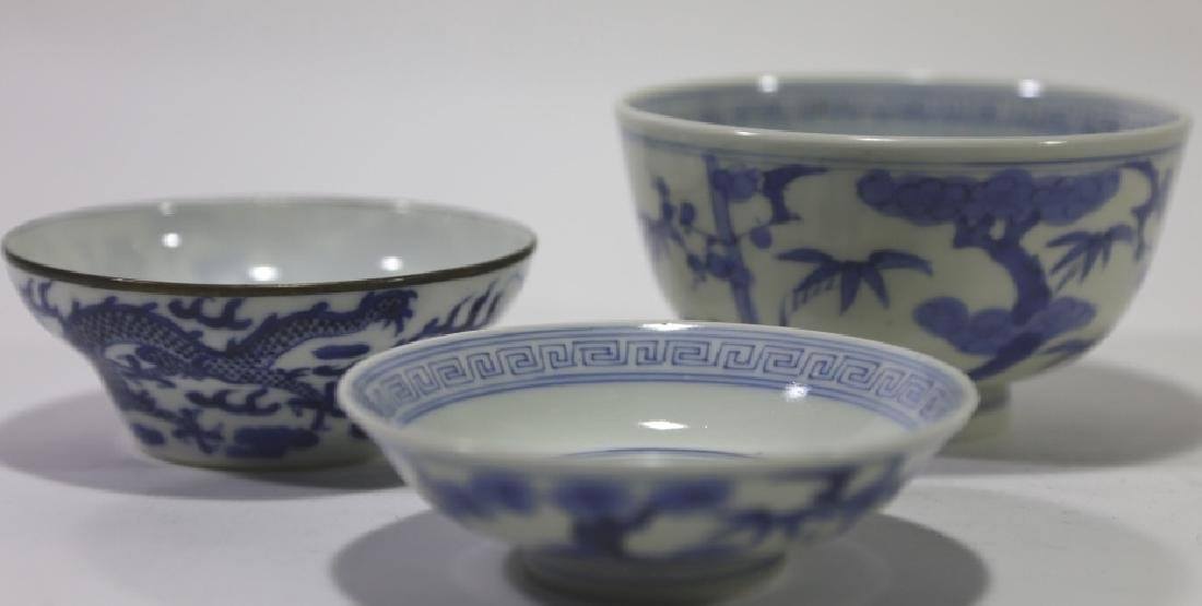 CHINESE ANTIQUE LOW BOWL GROUPING