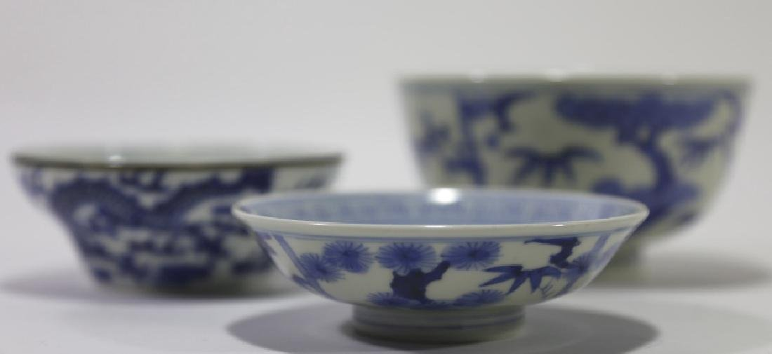 CHINESE ANTIQUE LOW BOWL GROUPING - 2