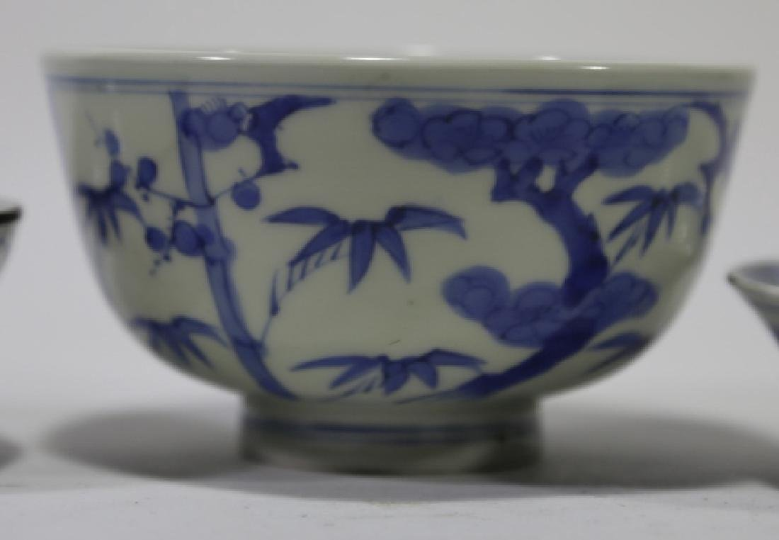 CHINESE ANTIQUE LOW BOWL GROUPING - 3