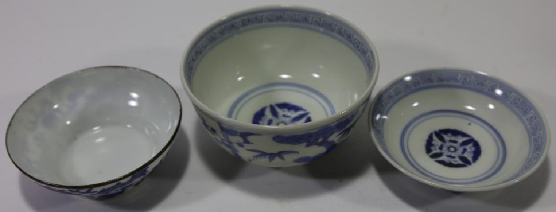 CHINESE ANTIQUE LOW BOWL GROUPING - 5