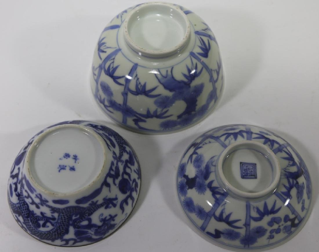 CHINESE ANTIQUE LOW BOWL GROUPING - 6