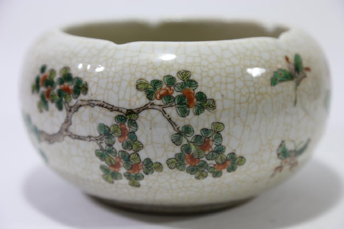 CHINESE CRACKLE GLAZE BOWL - 2