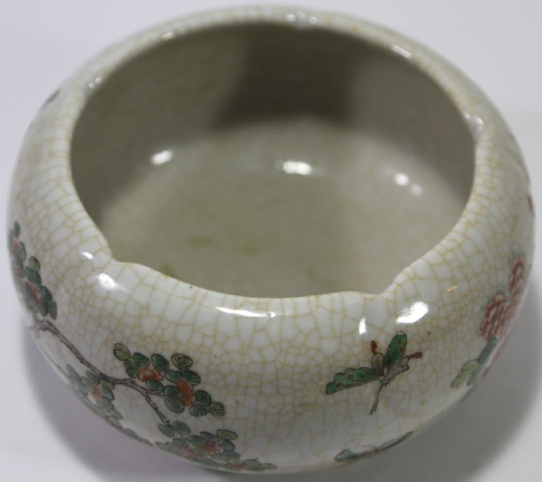 CHINESE CRACKLE GLAZE BOWL - 7