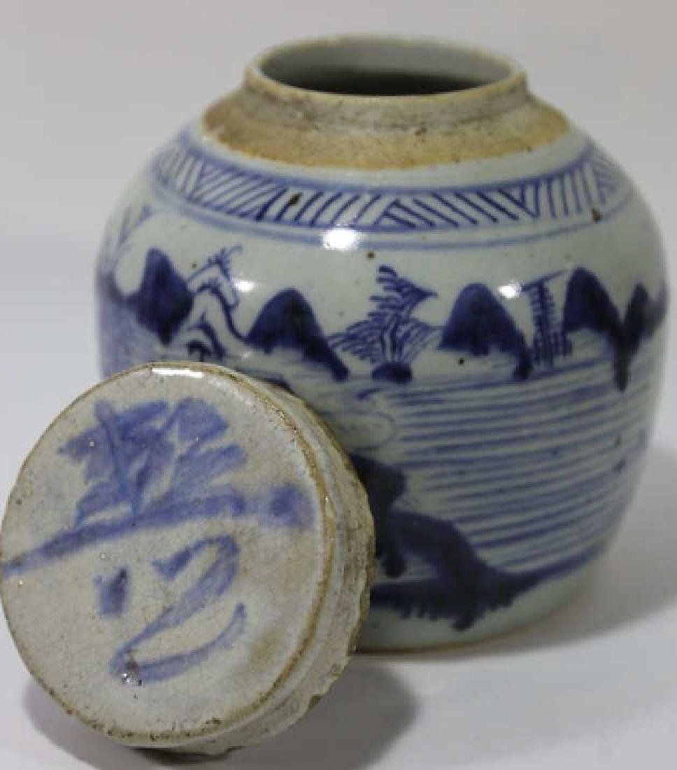 CHINESE ANTIQUE GINGER JAR - 2