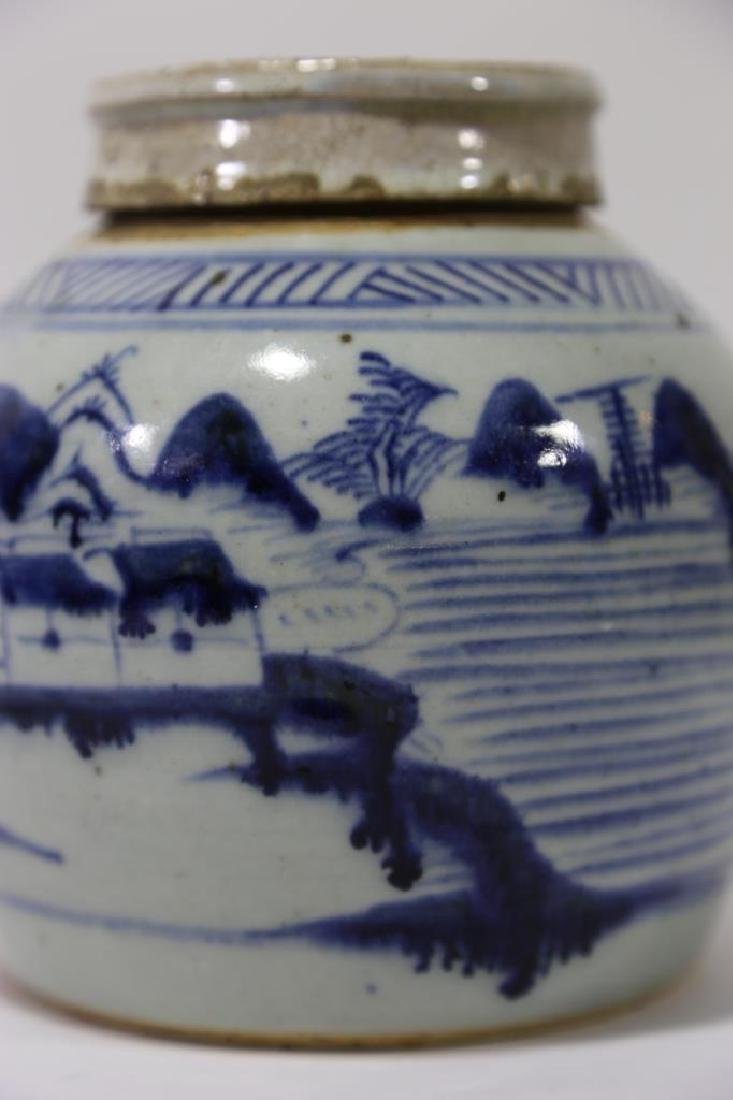 CHINESE ANTIQUE GINGER JAR - 3