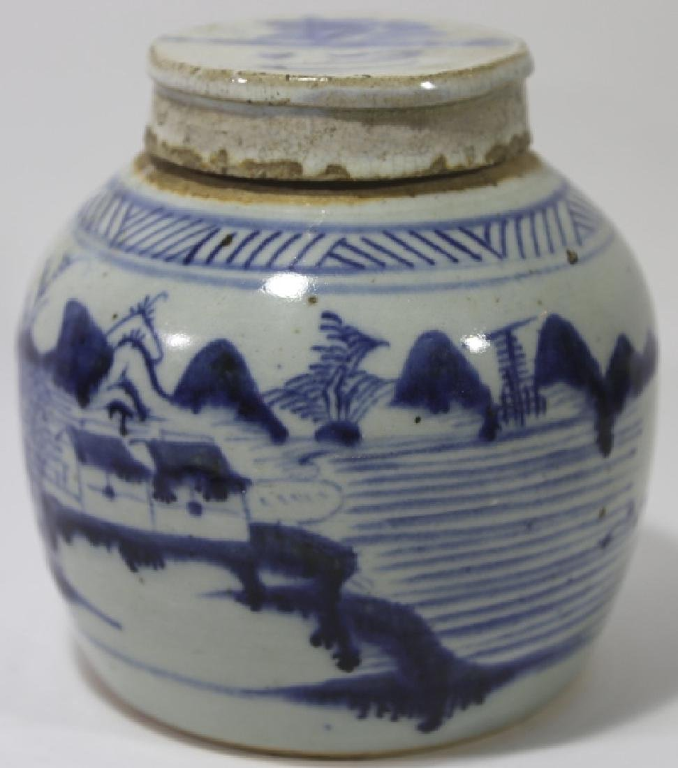 CHINESE ANTIQUE GINGER JAR - 4