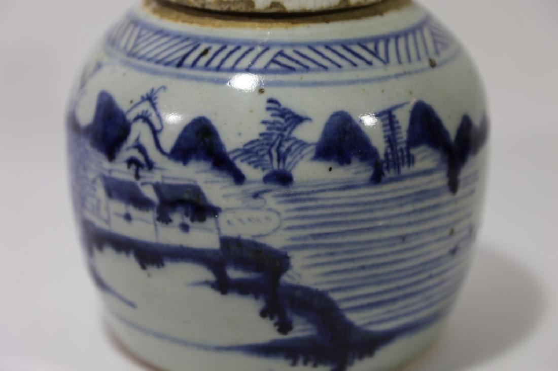 CHINESE ANTIQUE GINGER JAR - 5