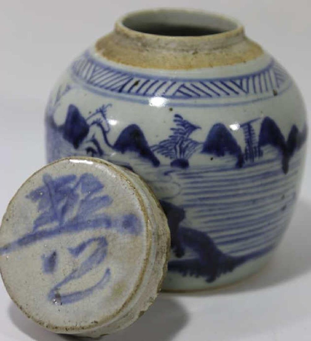 CHINESE ANTIQUE GINGER JAR - 6