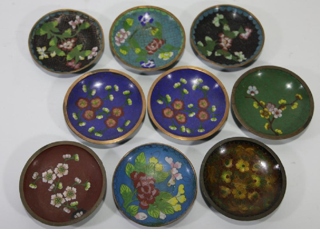 CHINESE CLOISONNE DIPPING GROUPING