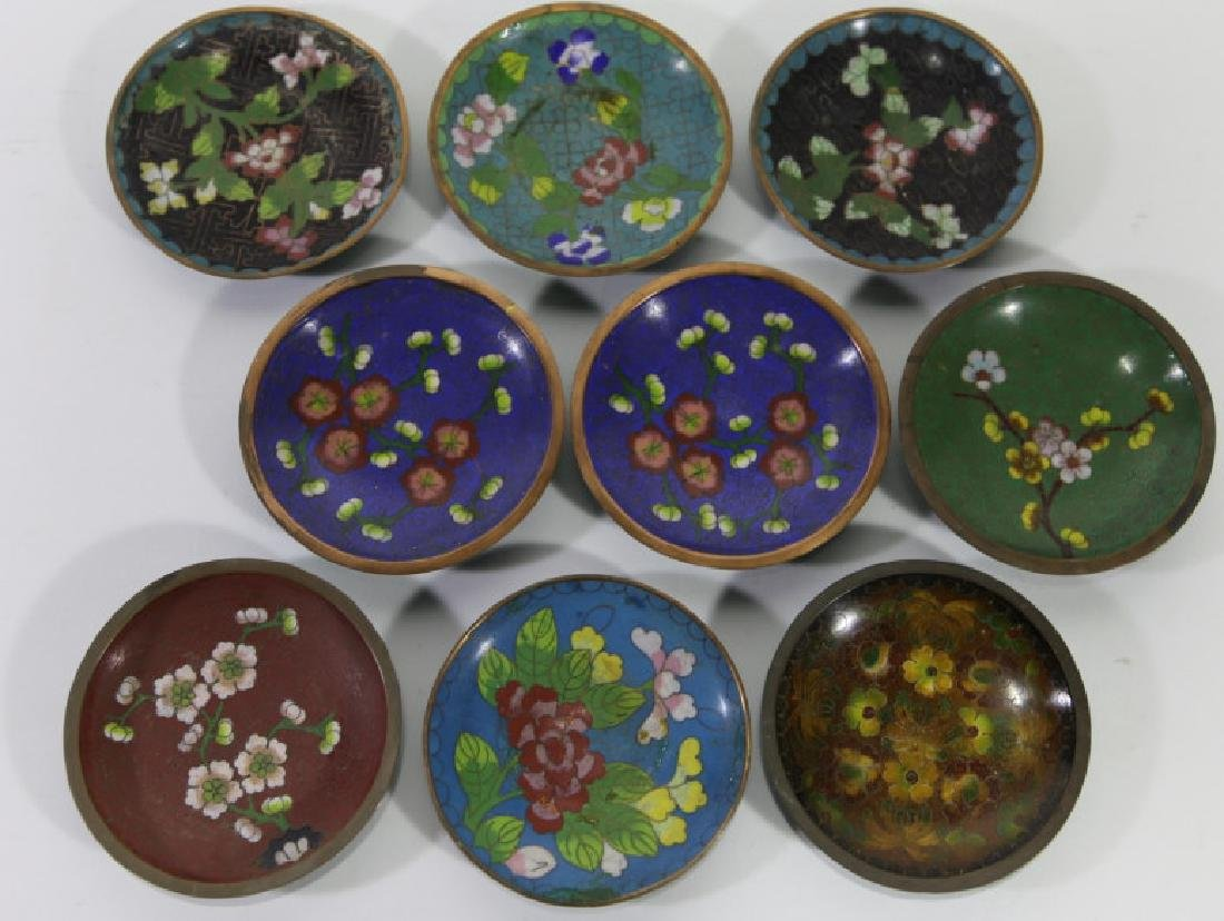CHINESE CLOISONNE DIPPING GROUPING - 2