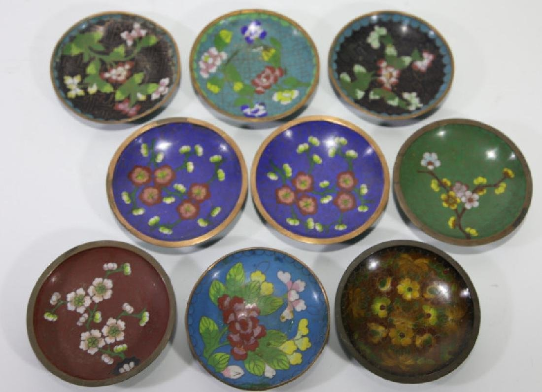 CHINESE CLOISONNE DIPPING GROUPING - 3