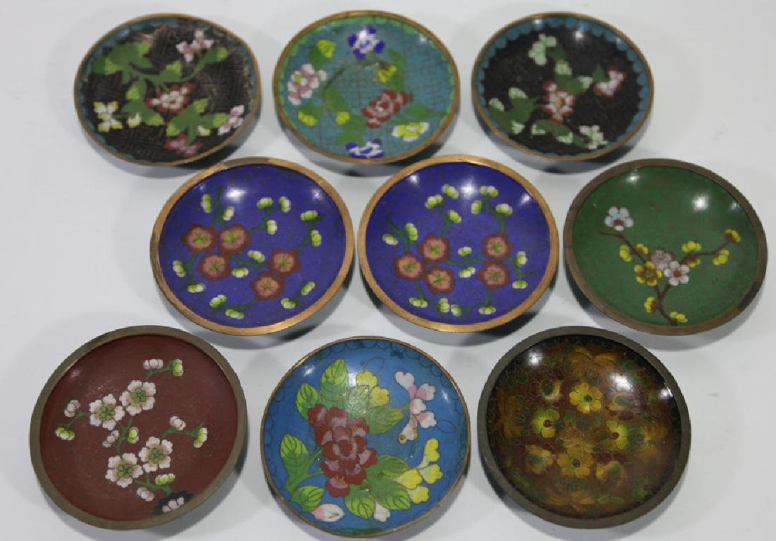 CHINESE CLOISONNE DIPPING GROUPING - 4