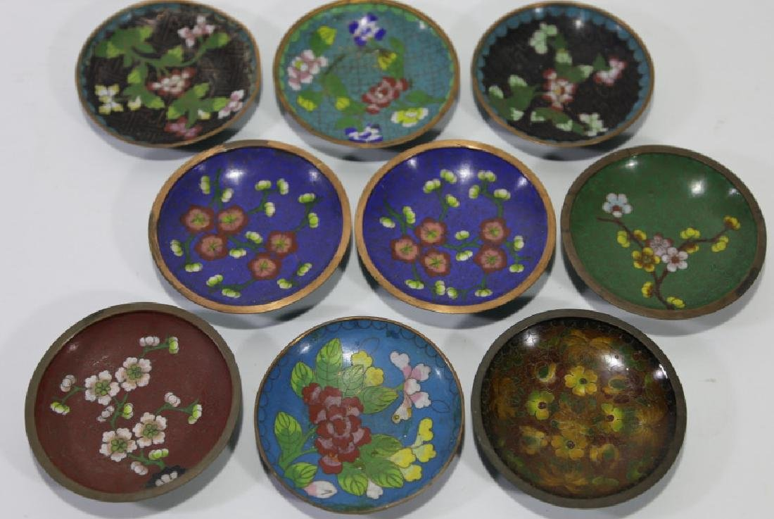 CHINESE CLOISONNE DIPPING GROUPING - 5
