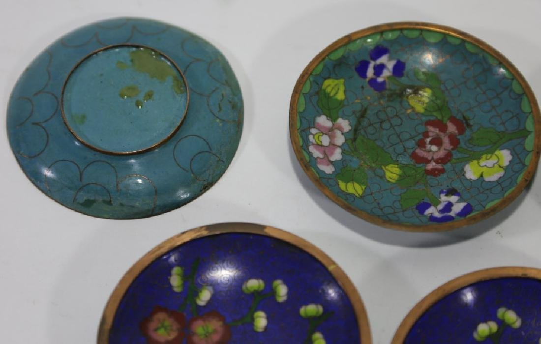 CHINESE CLOISONNE DIPPING GROUPING - 6
