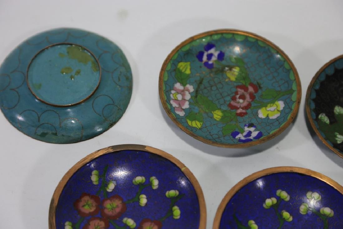 CHINESE CLOISONNE DIPPING GROUPING - 7