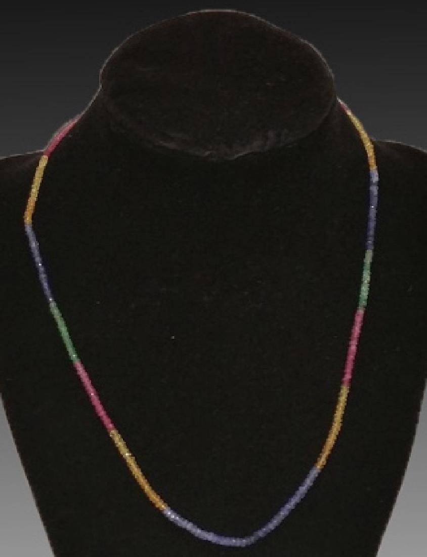 "18KYG / 18"" SAPPHIRE MULTI-COLORED STRAND - 2"