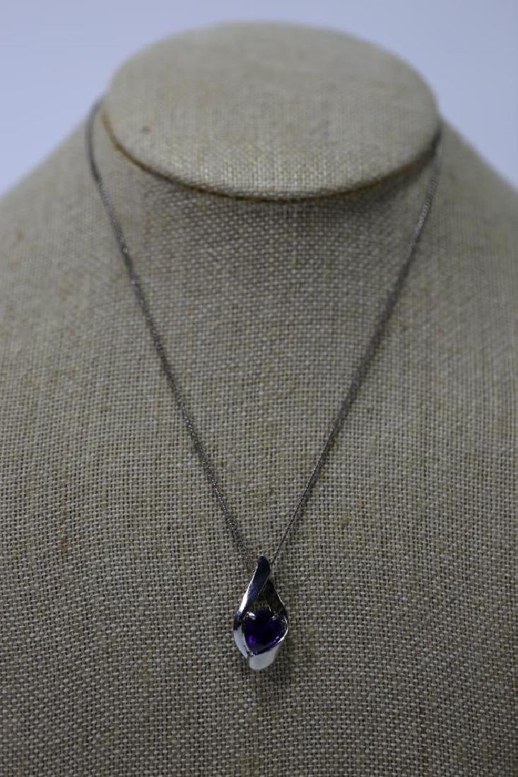 STERLING SILVER & SAPHIRE NECKLACE - 2