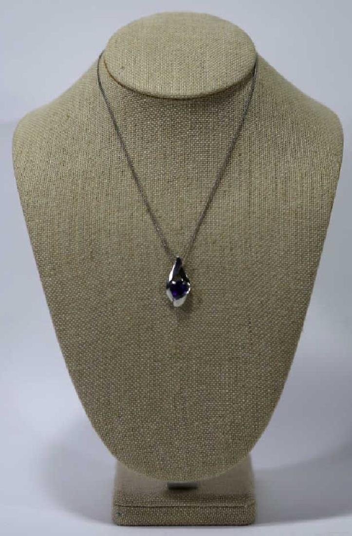 STERLING SILVER & SAPHIRE NECKLACE - 5