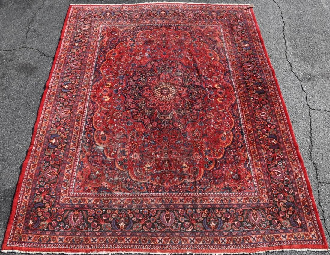 MESHED ANTIQUE HAND WOVEN ROOM SIZE CARPET