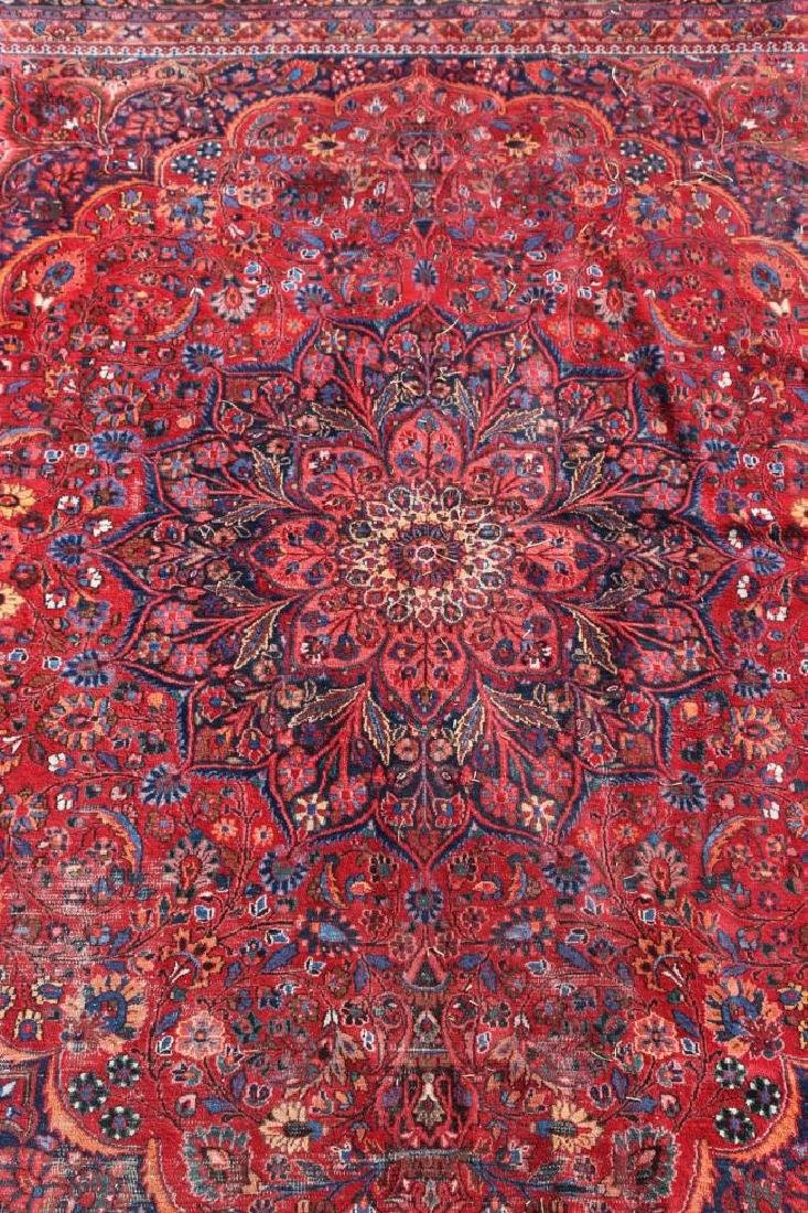 MESHED ANTIQUE HAND WOVEN ROOM SIZE CARPET - 2