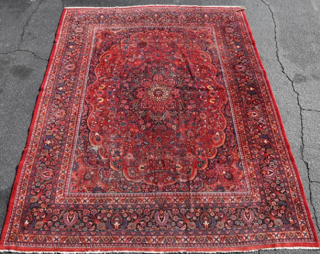 MESHED ANTIQUE HAND WOVEN ROOM SIZE CARPET - 3